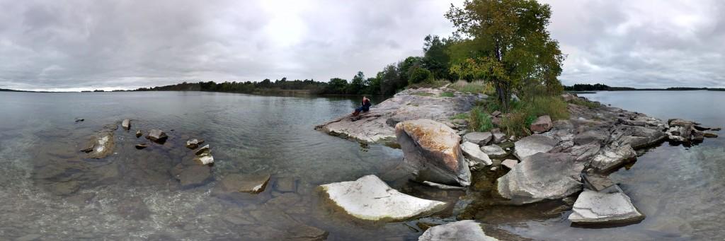 Blick auf den Lake St. Lawrence 360°