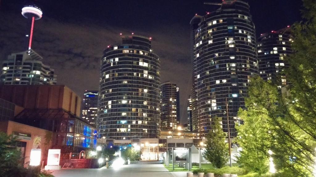 Blick auf Wolkenkratzer