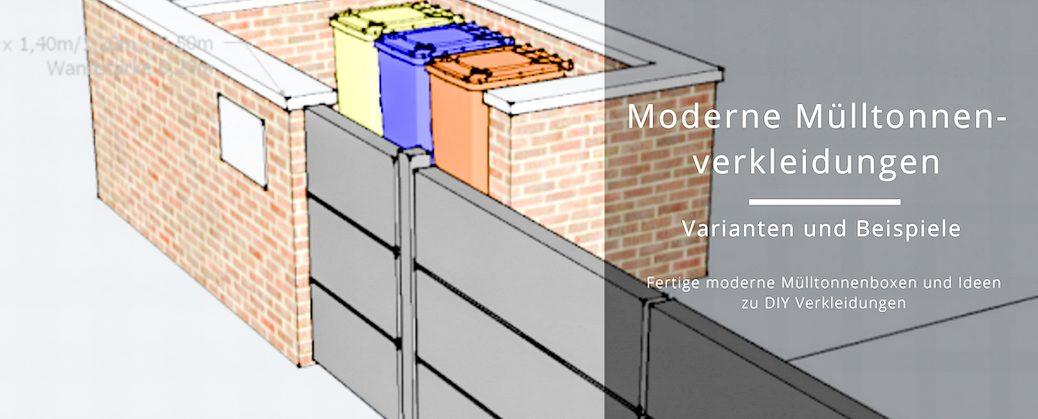 Ansprechende Mülltonnenverkleidungen passend zum modernen Garten // Mülltonnenboxen, DIY Mülltonnenverkleidung, Mülltonnen verstecken | Holz, Aluminium, Efeu, Buchenhecke | familiethimm.de