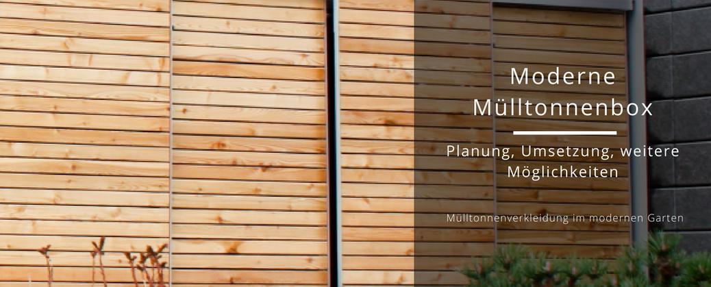 Moderne Mülltonnenbox: Unsere moderne Mülltonnenbox in unbehandeltem Lärchenholz und eloxiertem Aluminium-Gehäuse von nebengebaeude.de | familiethimm.de